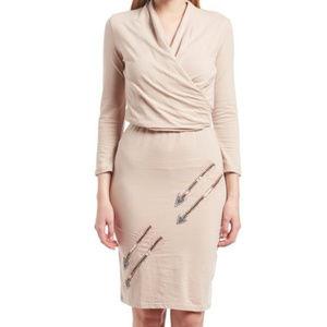 Synergy arrow dress, wrap style, free earrings